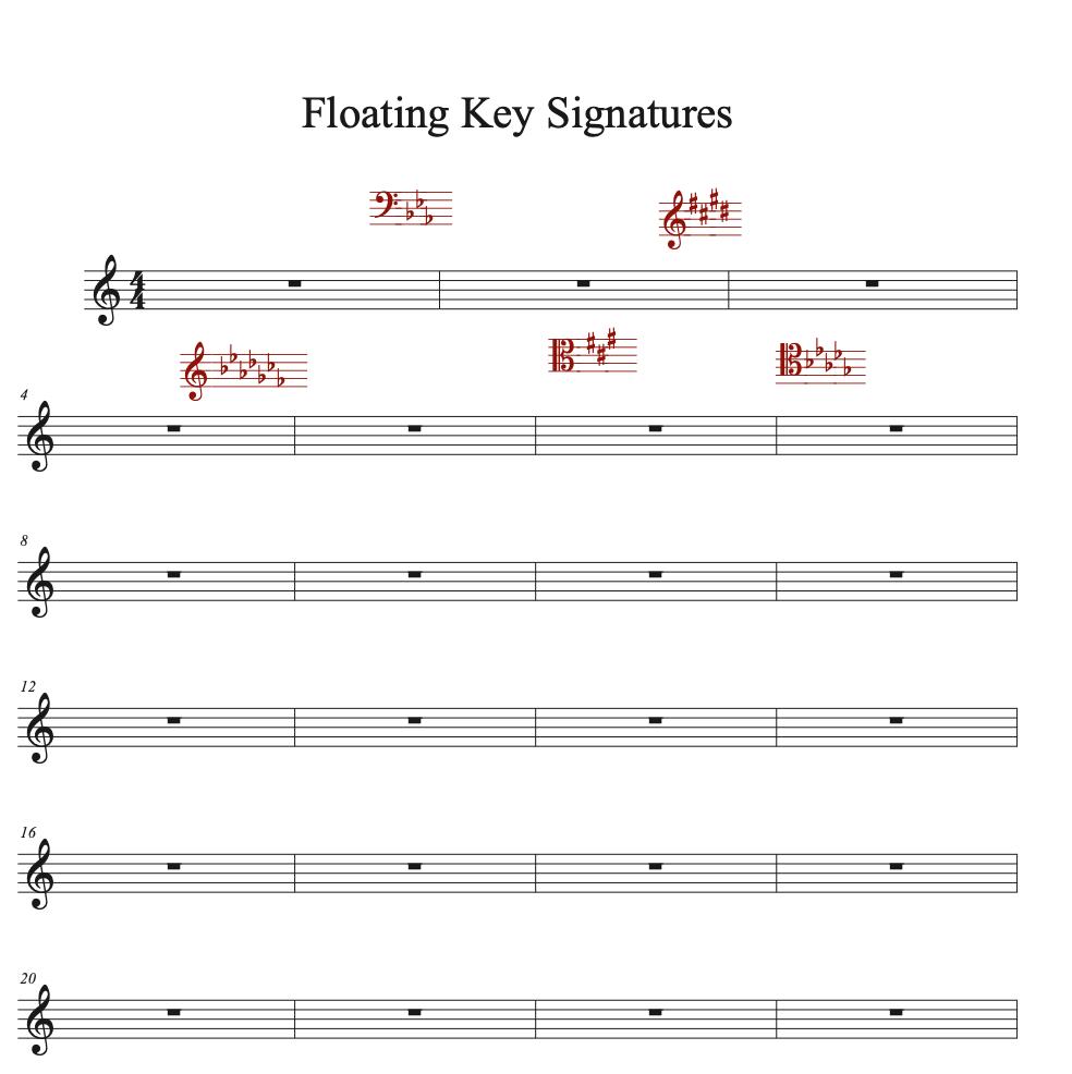 Floating Key Signatures Sample