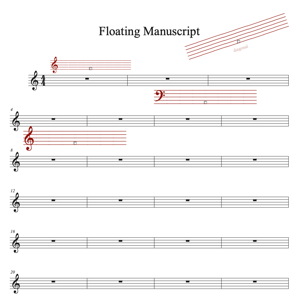 Floating Manuscript sample